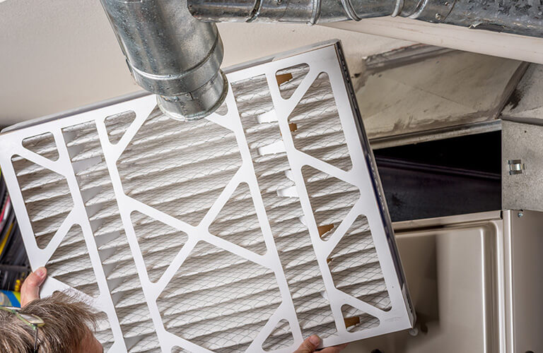 Changing HVAC air filter